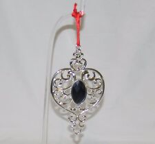 Lenox 856360 Bejeweled Spire Ornament Silverplate Purple Jewel with Box