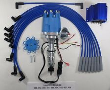 Small Cap FORD FE 352-390-427-428 BLUE HEI Distributor, Coil & Spark Plug Wires