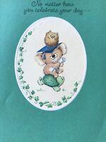 Vintage Unused Graduation Card W/envelope Hallmark Charmers Koala Bear See Pics
