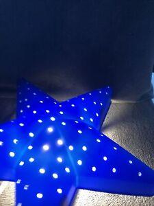 Ikea  Star Wall Light Blue - Kids Bedroom Night Light & Bulb. Read description