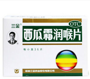 10 boxes Sanjin Watermelon Frost Lozenges for Dry Throat 3x12 Tablets/Box