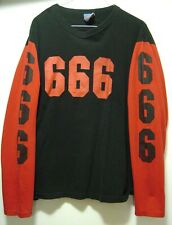Archaic Smile 666/BEELZEBUB long sleeve,90'S, large, Made in USA,*VERY RARE*
