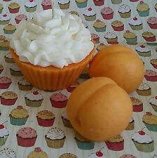 Peaches and Cream Cupcake with Soy Wax. Dessert candles that looks Yummy