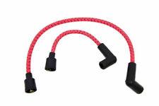 Red w/ Black Cloth Spark Plug Ignition Wire Set Harley Softail Sportster Dyna