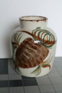 """Vintage  Unmarked Erwin Cash Pottery 4.5"""" tall Vase Jug Pine Cone"""