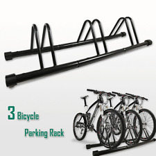 1 - 3 Bike Floor Parking Park Organize Holder Rack Storage Stand Bicycle Cycling