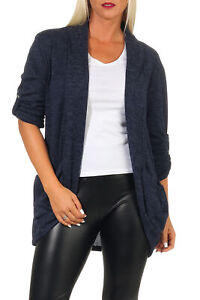 Damen Cardigan Strickjacke Weste Bolero Longshirt Bluse Pullover Winter Jacke