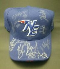 PATRIOTS OFFICIAL SIDELINE HAT AUTO SIGNED FAULK FAURIA BRADY +7 SUPER BOWL 69fc74e4a