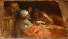 JEAN FRANCOIS PORTAELS TABLEAU 1870 PEINTURE ORIGINALE ORIENTALISTE / RARE MUSEE