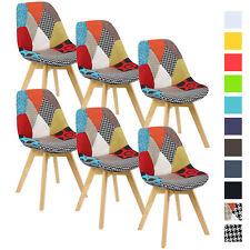 6er Set Esszimmerstühle Design Esszimmerstuhl Küchenstuhl Holz BH29mf-6