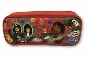 Pencil Case - Coco - Red - w Zipper - Guitar