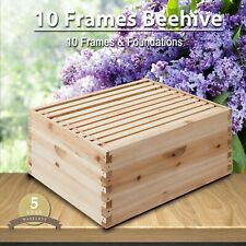 New listing 10 Frame Deep Size Beekeeping Kit Bee Hive House Frame Single Layer