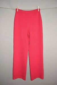 ST. JOHN COLLECTION NEW $365 Cherry Pink Santana Knit Pull-On Pant Size 8