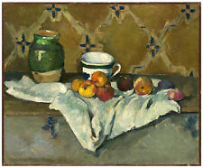 """Post-Impressionism """"Still Life with Jar, Cup, and Apples"""" Paul Cézanne ca. 1877"""