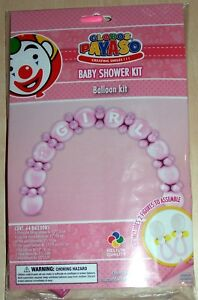 Pink Baby  Shower Balloon Arch Kit.   Makes Arch and 2 Bonus Dummies