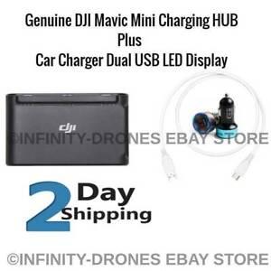 Genuine DJI Mavic Mini Two-Way Battery Charging Hub Power Bank + Car Charger LED