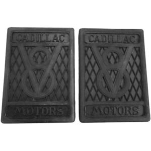 1927-1940 Cadillac V8 Pair of Clutch and Brake Pedal Pads