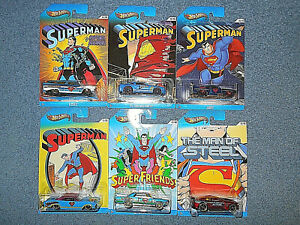 2012 HOT WHEELS SUPERMAN SERIES 1:64 DIECAST COLLECTORS CARS COMPLETE SET OF 6
