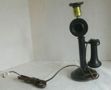 Vintage Western Electric American Bell Candletstick Telephone Lamp