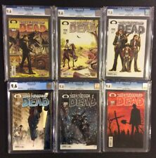 WALKING DEAD #1 2 3 4 5 6 Comic Books ALL CGC GRADED 9.6 NM+ 1st Prints +Promos