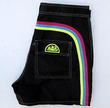 Sundek Nadar Baño Shorts Brillante Negro Talla W27 Traje De Baño Vintage Casuals EE. UU. bien!!!
