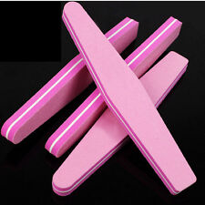 2 pcs Nail File Buffer Nail Art Tips File Sponge Manicure Sanding Block Tool TO