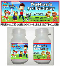 30 PAW PATROL BIRTHDAY PARTY FAVORS BUBBLE LABELS