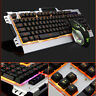 PC Aluminum Panel Luminous Wired Gaming Mechanical Keyboard and Mouse Set Gamer