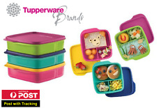 (Set of 3) Tupperware Lollitup Divided Square Bento Lunch Box 550ml x 3 PCS