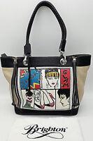 BRIGHTON - GENTLY LOVED! - Fashionista Diva Ta-Da Leather Shoulder Tote Bag