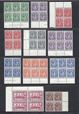 ST LUCIA 1938-48 SG 128A/41 MNH Blocks of 4 Cat £320