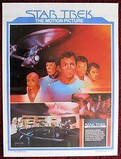 Star Trek The Motion Picture Original 1979 Poster Capt Kirk Mr Spock & Crew