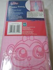 New Little Pet Shop World Play Window Drape Panel Pair 82x63 Pink NIP