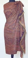 Large Shawl Wool Paisley Jamavar Burgundy & Navy Jamawar Pashmina Evening wear