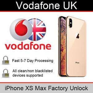 Vodafone UK iPhone XS Max Factory Unlocking Service