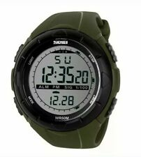 water resistant lcd sports watch with alarm stopwatch date day luminous
