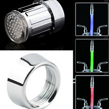 Water Glow Shower 3 Color Changing LED Tap Faucet Light Temperature Sensor FC