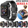For Apple Watch 4 Armor Band Case iWatch 40/44mm Protective Cover w/ Strap Bands