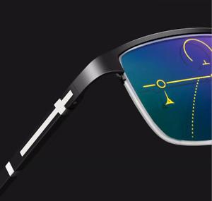 Anti Blue Transition Reading Glasses Multifocal Progressive Photochromic Lens