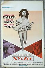 Affiche Belge UNE BELLE TIGRESSE Zee and Co ELIZABETH TAYLOR Michael Caine