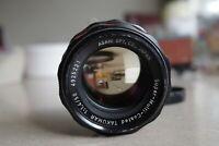 Pentax SMC Takumar fast prime 50mm F1.4, M42 screw fit, excellent glass