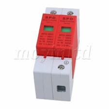 2P 30~60KA Din Rail Surge Protection Device SPD Lightning Arrester Gray and Red