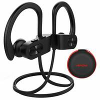 MPOW Flame Wireless Bluetooth Headphones Sports Gym Headset Earphones IPX7 Black