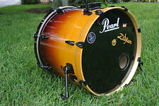 "PEARL ELX SERIES 22"" AMBER FADE BASS DRUM FOR YOUR DRUM SET! LOT #N15"