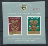 Colombie Bloc N° 28** (MNH) 1967 - 6eme exposition philatélique de Bogota