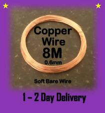 Bare Copper Wire Craft Wire soft 0.6mm 8 Metres Modelling and Hobbyist