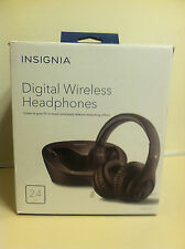 INSIGNIA Black Digital Wireless Headphones for TV OPEN BOX