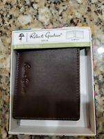 ROBERT GRAHAM MEN'S BLAZEN GENUINE BROWN LEATHER BIFOLD BILLFOLD WALLET $78 NIB
