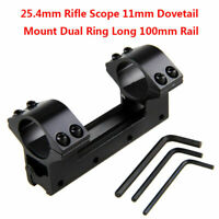 High Profile 25.4mm Scope Dual Ring Mount 11mm Dovetail Rail for Rifle Hunting