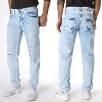 SERSERI Jungen Boys Kinder Regular Fit Jeans Hose Destroyed Look Hellblau 1505